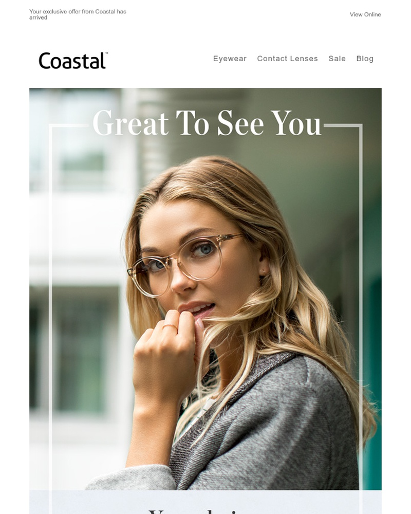 Screenshot of email sent to a Coastal Newsletter subscriber