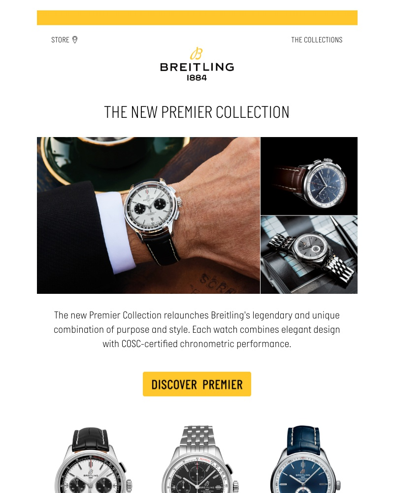 Screenshot of email sent to a Breitling Newsletter subscriber